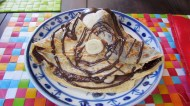 Yummy Crepe - with ice-cream, banana and melted chocolate. YEAH!