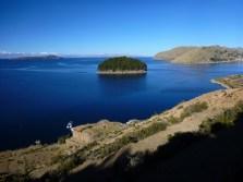 Beautiful view over lake titikaka