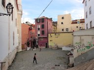 In the streets of Alfama - kids playing fotball