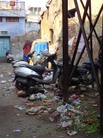 quite much rubbish and motorbikes