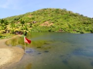The sweet water lake in Arambol