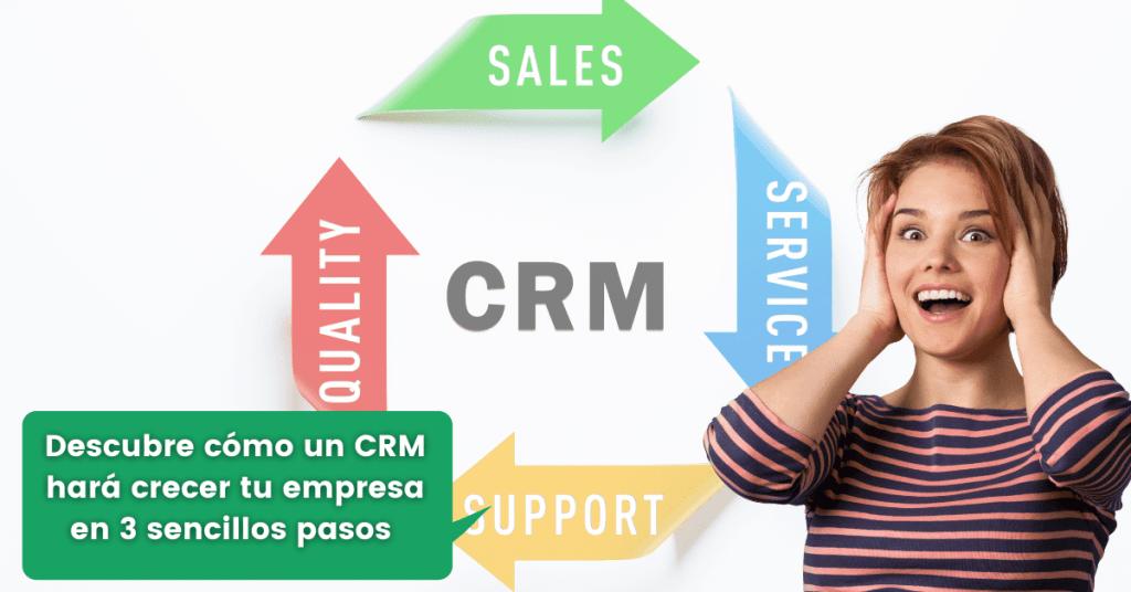 Descubre cómo un CRM hará crecer tu empresa en 3 sencillos pasos