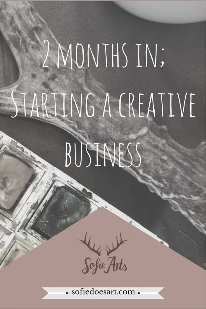 2 month in; starting a creative business; goals and accomplishments from the first 2 months in business