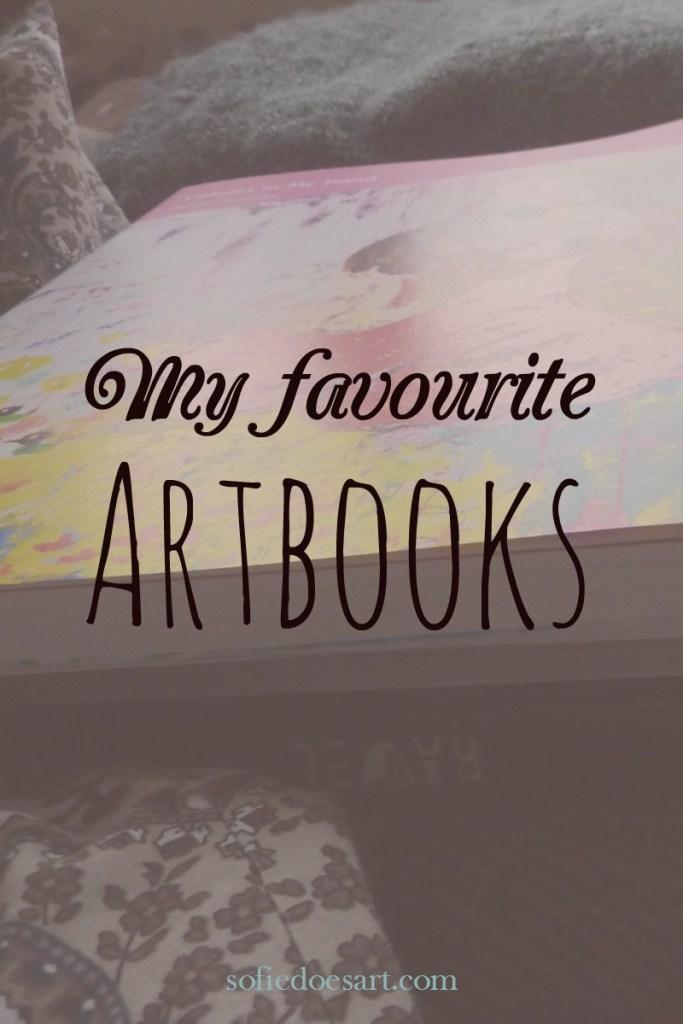 My favourite art-books for inspiration. // sofiedoesart.com