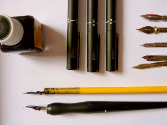 ink and tools