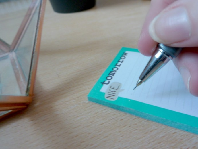 writing hand wood