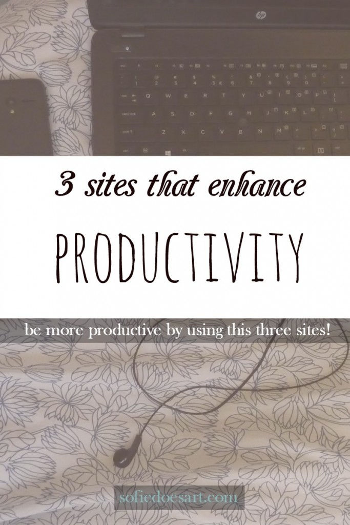 3 sites that enhance my productivity and help me get more done every day. Check this list out if you are searching for tools to help you stay on top of work.