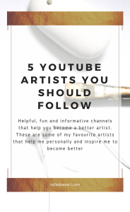 5 great artists on youtube who's channels teach, help and inspire me. Artist that help you improve and become a professional artist!