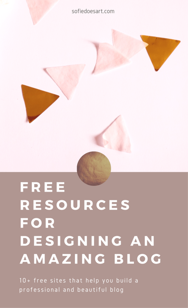 Free resources that help bloggers design their own beautiful and professional looking blogs!