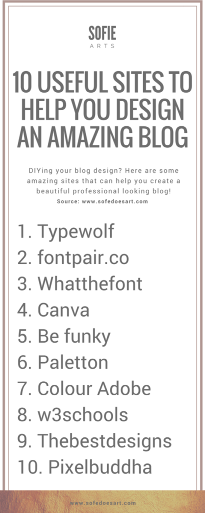 10 amazing sites that help you make a great blog. Want to know more? Click through to the blog!