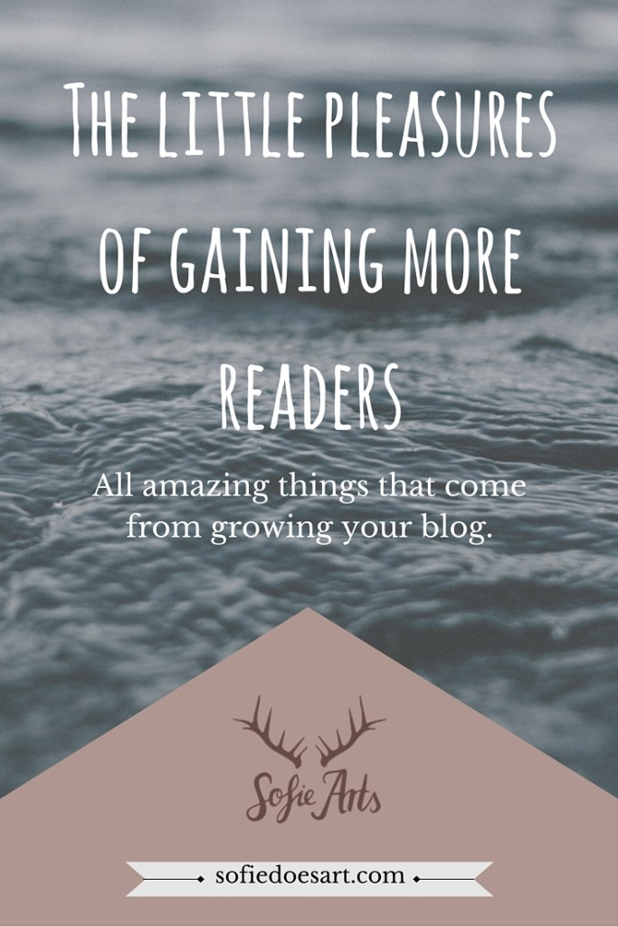 The little pleasures you can find in growing your blog that are not big numbers!