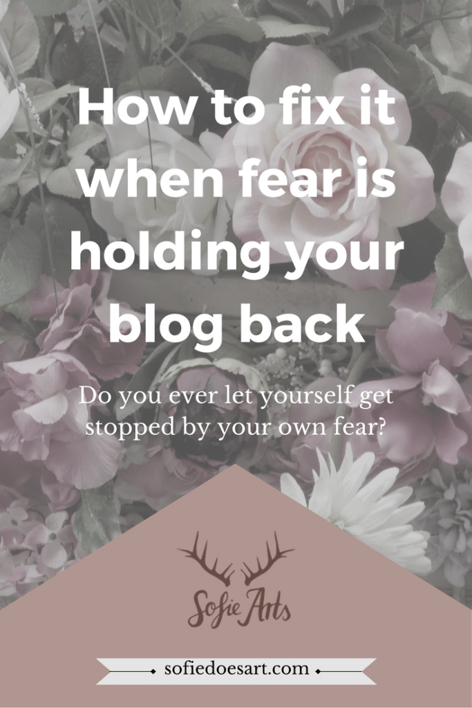 Do you let yourself get stopped by fear and you feel like it is holding you back? These are y tips for dealing with it!