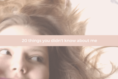 20 things you didn't know about me