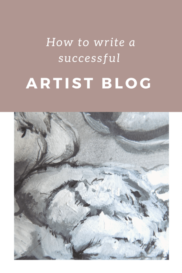 All the info you need on writing a successful artist blog that help you grow an audience for your art.