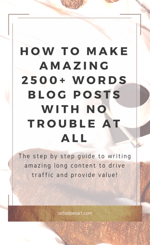Writing a great valuable in-depth 2500+ blog post made easy with this quick guide! Write a valuable piece for your readers and drive traffic.