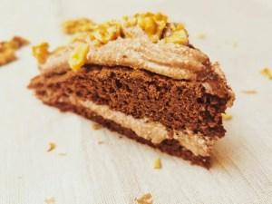 Protein Brownie mit Quarkfüllung