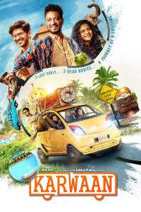 """Poster for the movie """"Karwaan"""""""