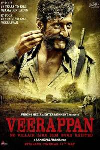 """Poster for the movie """"Veerappan"""""""