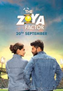 "Poster for the movie ""The Zoya Factor"""