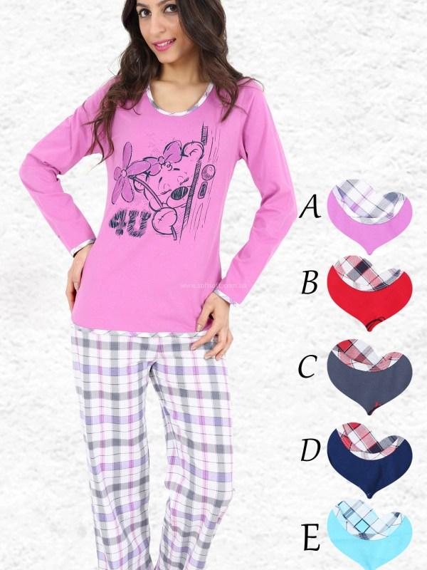 Пижама женская брюки 007575