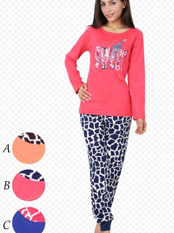 Пижама женская брюки манжет 4032674363
