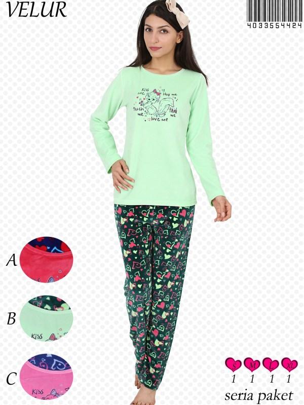 Пижама женская Велюр 4033554424
