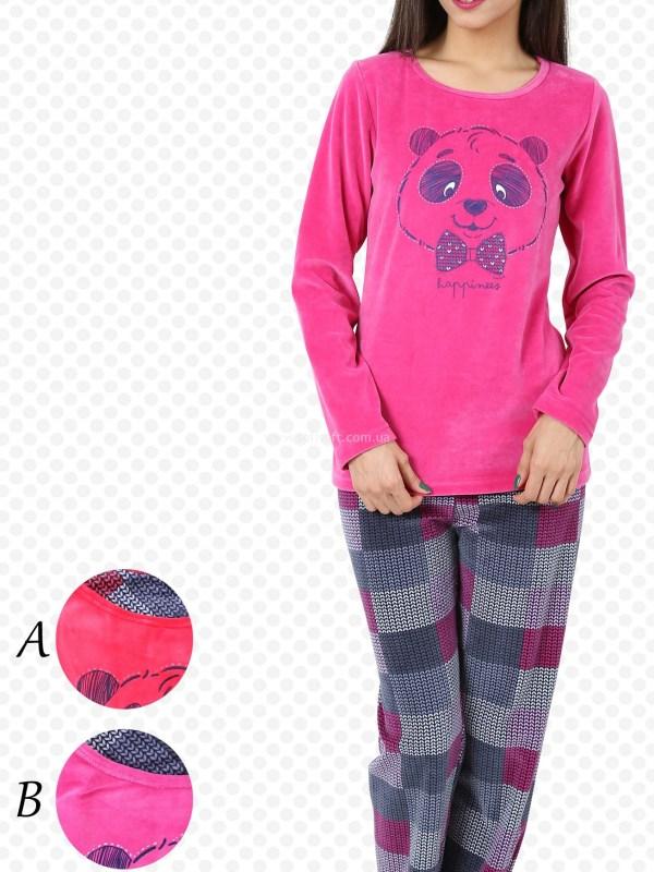 Пижама женская Велюр 4041474424