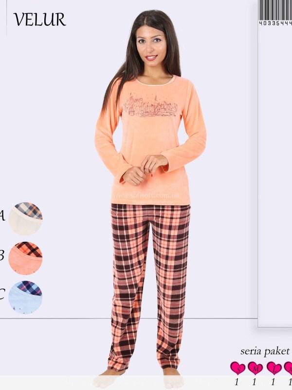 Пижама женская Велюр 4033544424