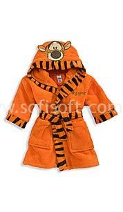 Халат махровый Детский тигр софт