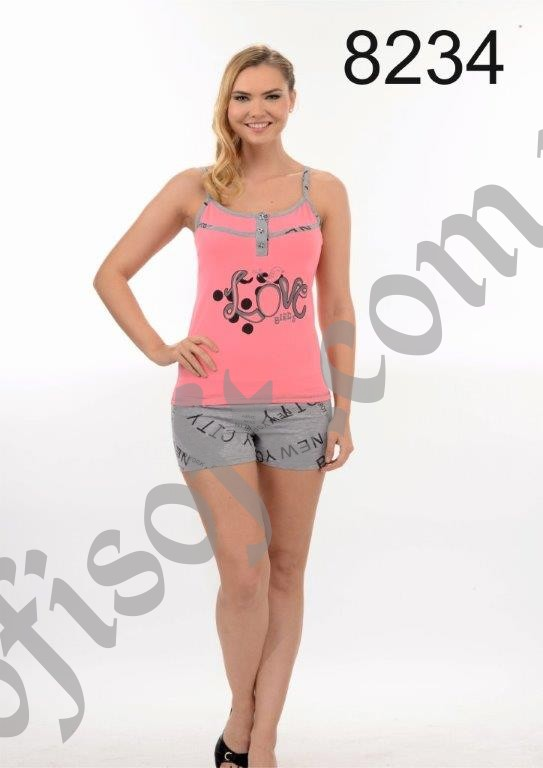 Пижама женская шорты Metin 8234