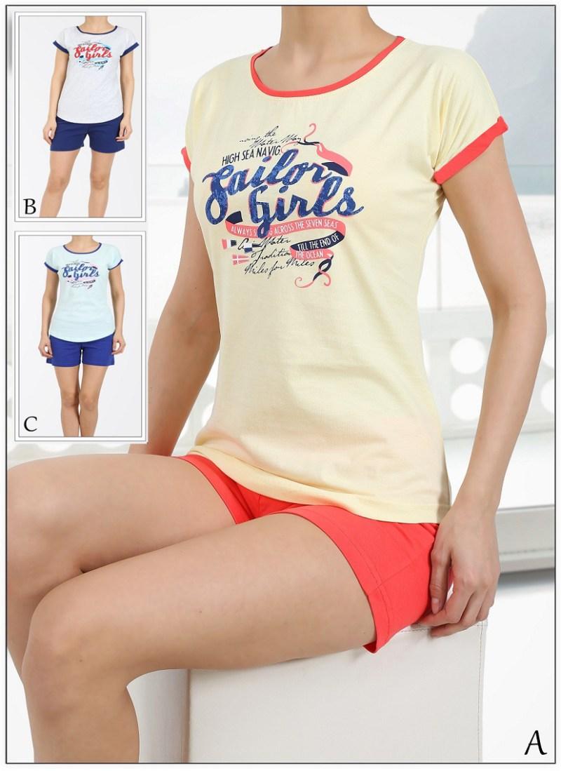 Пижама женская шорты 4110624748