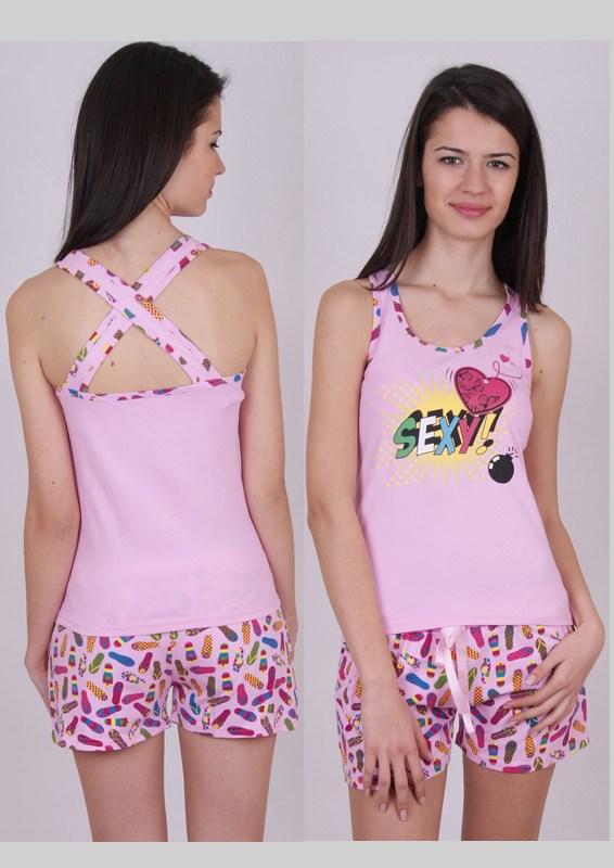 Пижама женская шорты Nicoletta 80397