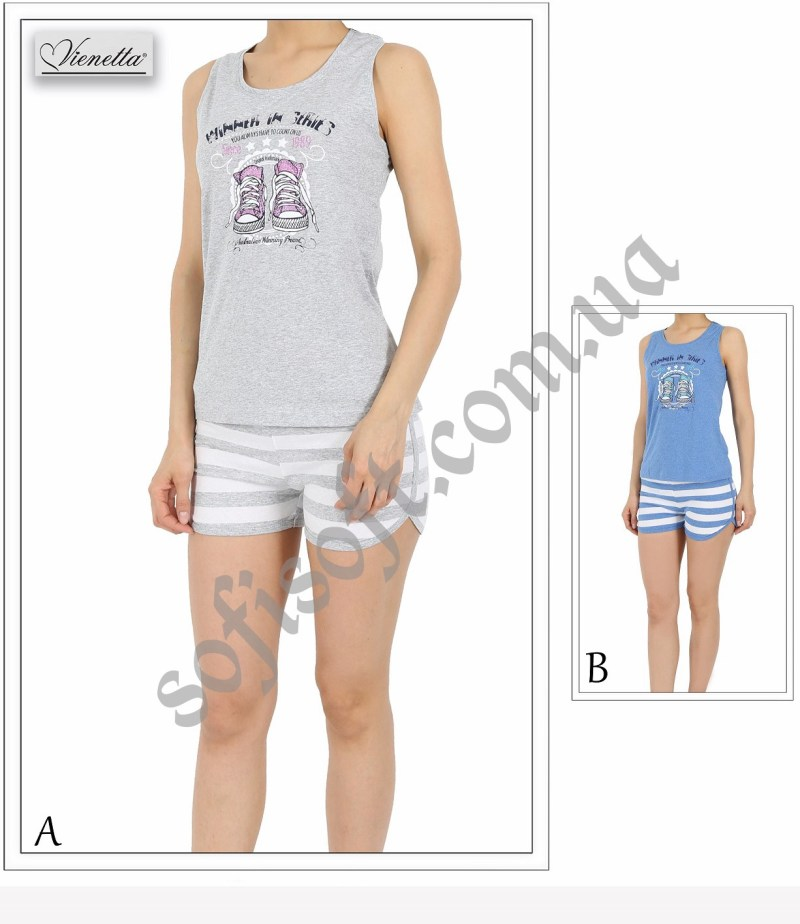 Пижама женская шорты 4110674787