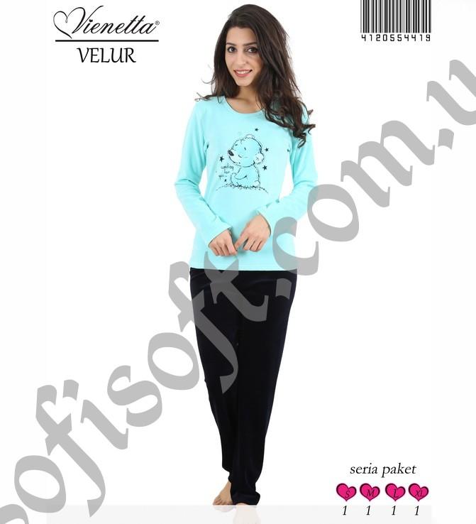 Пижама женская Велюр 4120554419