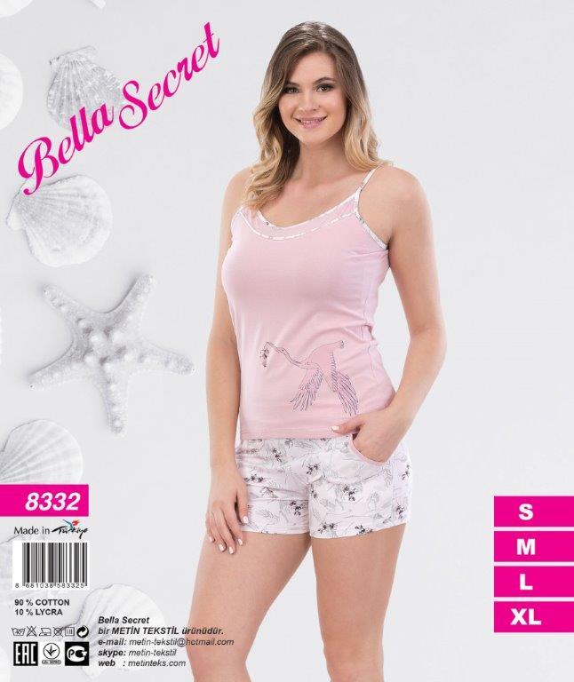 Пижама женская Шорты Metin 8332
