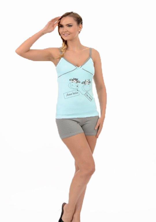 Пижама женская шорты Metin 8248