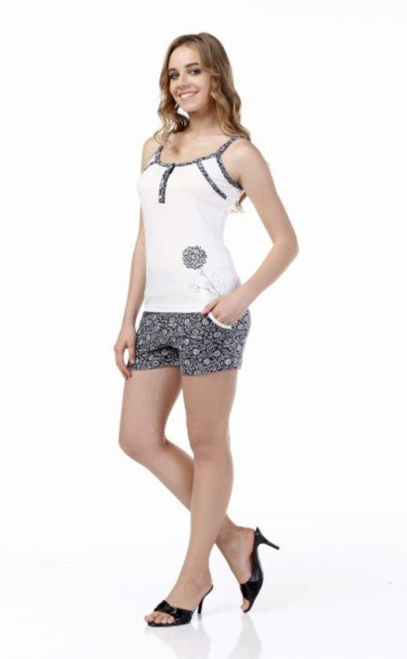 Пижама женская шорты Metin 8370