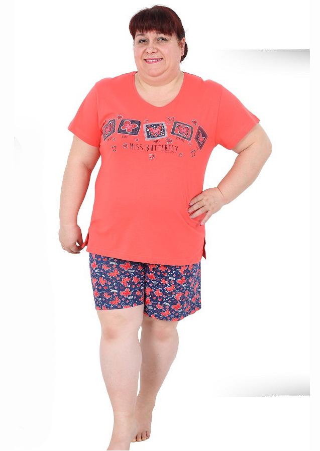 Пижама женская шорты 8680646015891