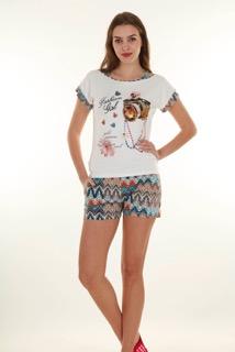 Пижама женская шорты Nicoletta 80583