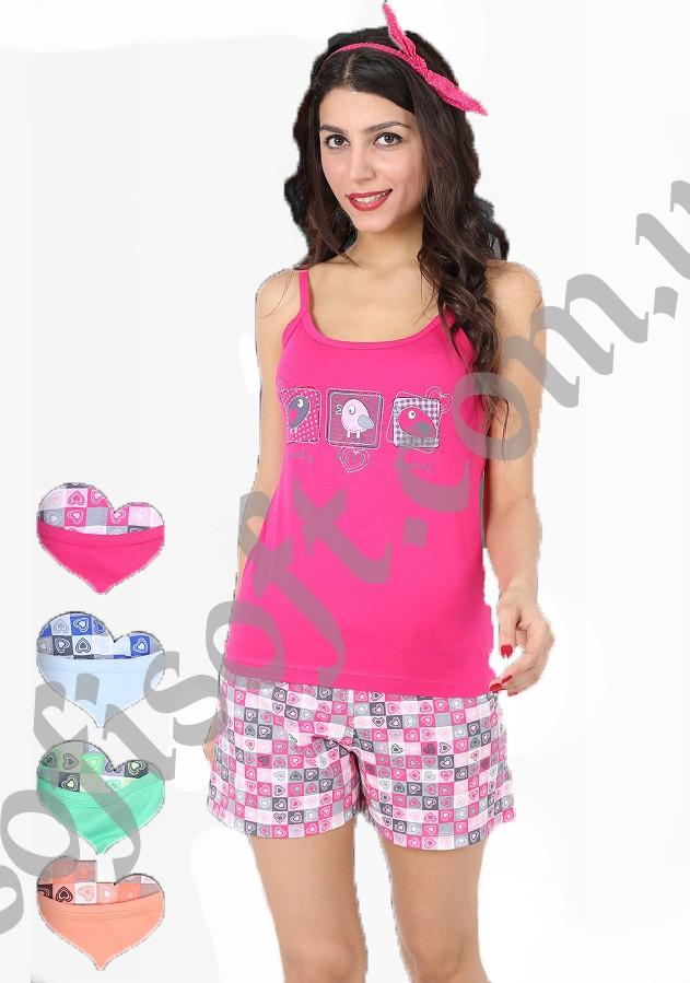 Пижама женская шорты 8680646015525