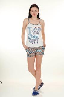 Пижама женская шорты Nicoletta 80591