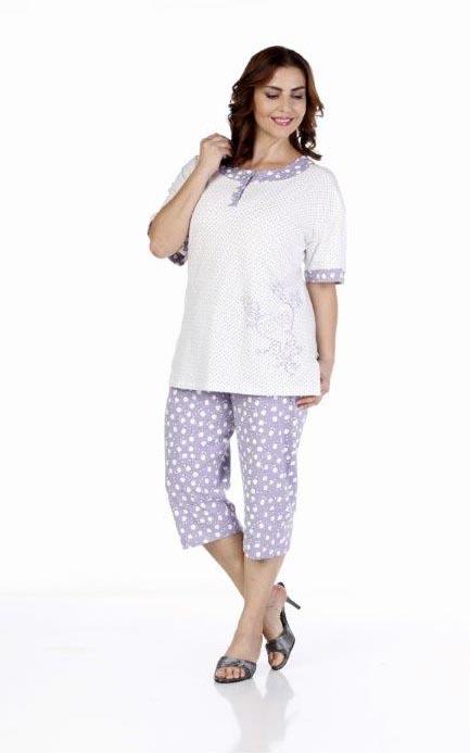 Пижама женская капри Metin 9221