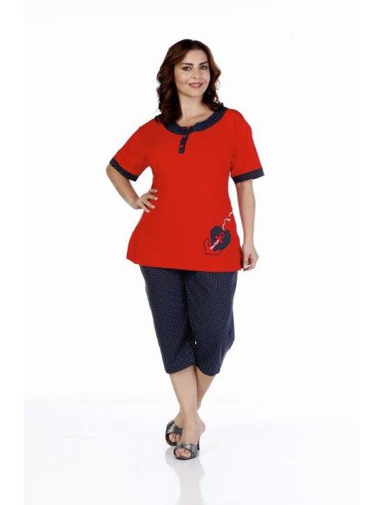 Пижама женская капри Metin 9235