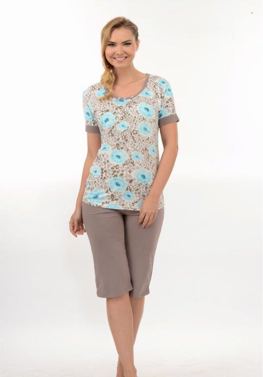 Пижама женская капри Metin 9888