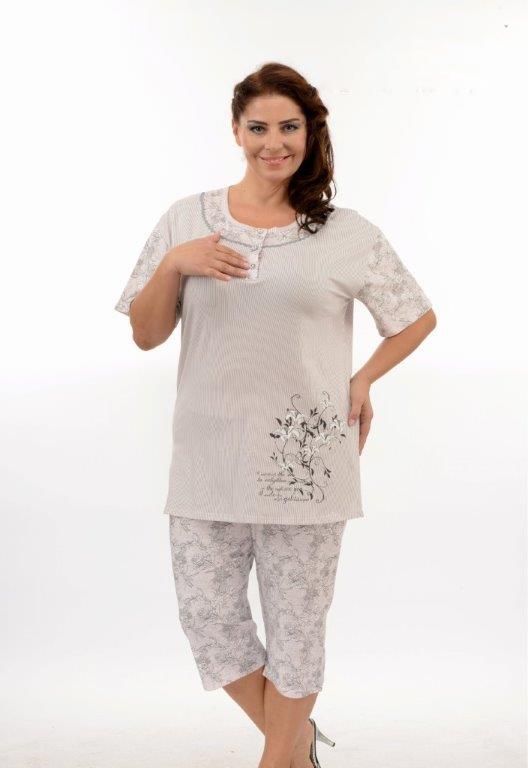 Пижама женская капри Metin 9889