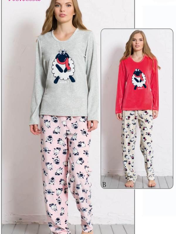 Пижама женская велюр 6050520032