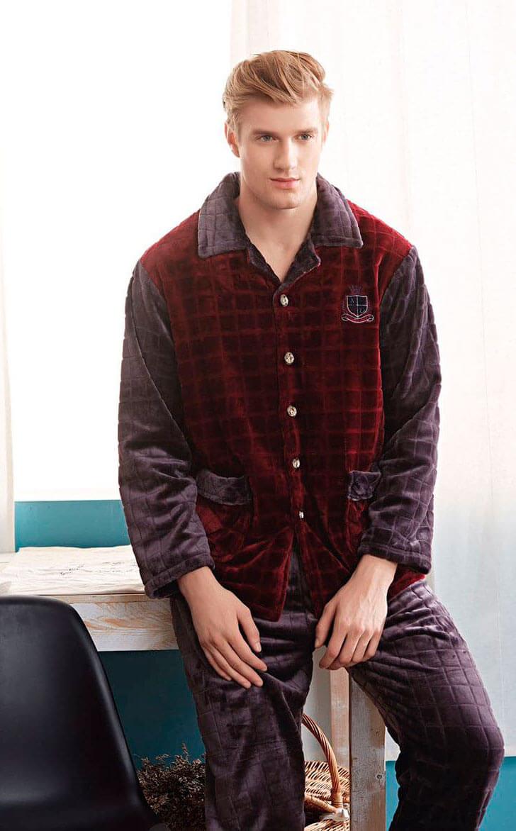 Пижама мужская пиджак Jade Aubergine 668023