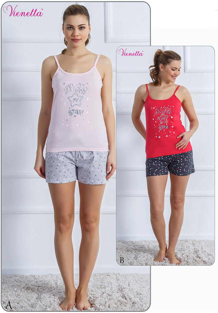 Пижама женская шорты 6091290375