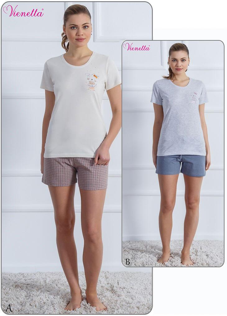 Пижама женская шорты 6102230352