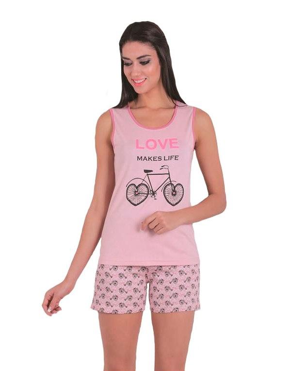 Пижама женская шорты SAB. H 62801